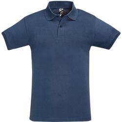 Vêtements Homme Polos manches courtes Sols Pique Bleu