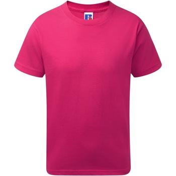Vêtements Garçon T-shirts manches courtes Jerzees Schoolgear J155B Fuchsia