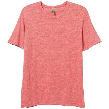 Vêtements Homme T-shirts manches courtes Alternative Apparel Jersey Rouge chiné