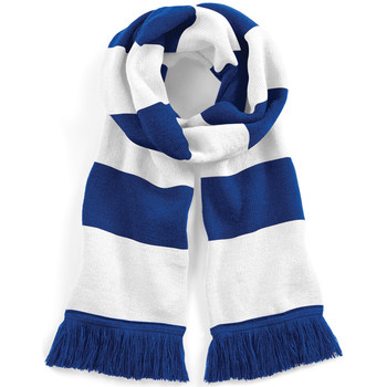 Accessoires textile Femme Echarpes / Etoles / Foulards Beechfield Varsity Bleu roi/Blanc