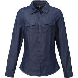 Vêtements Femme Chemises / Chemisiers Premier Stitch Bleu