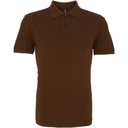 Vêtements Homme Polos manches courtes Asquith & Fox AQ010 Chocolat