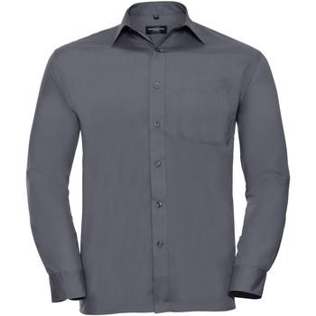 Vêtements Homme Chemises manches longues Russell 934M Gris convoi