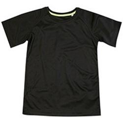 Vêtements Enfant T-shirts manches courtes Stedman Raglan Noir