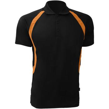 Vêtements Homme Polos manches courtes Gamegear Riviera Noir/Orange