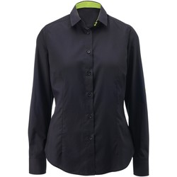 Vêtements Femme Chemises / Chemisiers Alexandra AX060 Noir/Vert citron