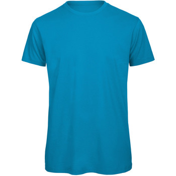 Vêtements Homme T-shirts manches courtes B And C TM042 Turquoise
