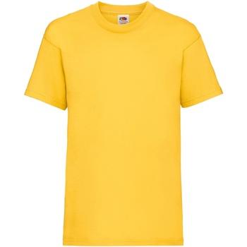 Vêtements Enfant T-shirts manches courtes Fruit Of The Loom 61033 Tournesol
