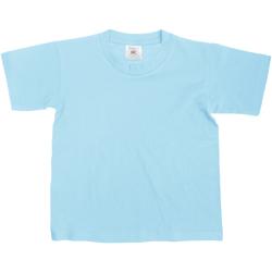 Vêtements Enfant T-shirts manches courtes B And C Exact Bleu ciel