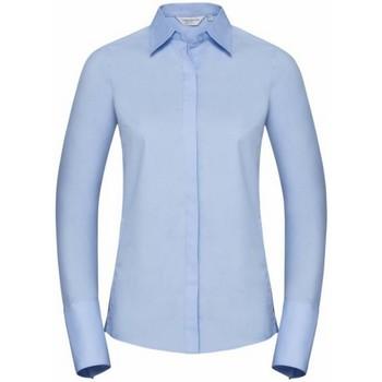 Vêtements Femme Chemises / Chemisiers Russell Chemisier Stretch à manches longues BC2736 Bleu pâle