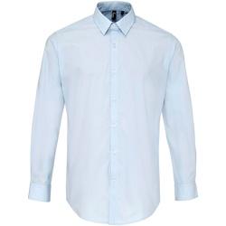 Vêtements Homme Chemises manches longues Premier PR207 Bleu clair