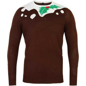 Vêtements Homme Pulls Christmas Shop CS155 Marron/Blanc