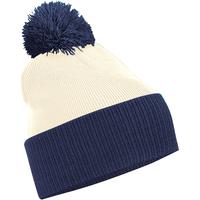 Accessoires textile Garçon Bonnets Beechfield B451 Blanc cassé/Bleu marine