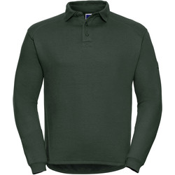 Vêtements Homme Polos manches longues Russell Europe Sweatshirt avec col et boutons RW3275 Vert bouteille