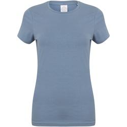 Vêtements Femme T-shirts manches courtes Skinni Fit Stretch Bleu pierre