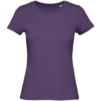 Vêtements Femme T-shirts manches courtes B And C Organic Violet