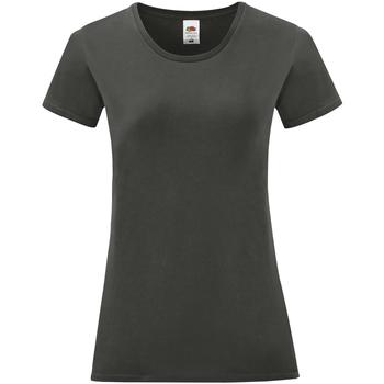 Vêtements Femme T-shirts manches courtes Fruit Of The Loom Iconic Gris foncé