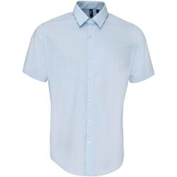 Vêtements Homme Chemises manches courtes Premier PR209 Bleu clair