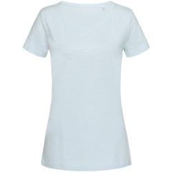 Vêtements Femme T-shirts manches courtes Stedman Stars Sharon Bleu pâle