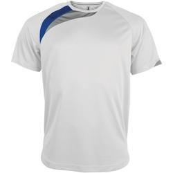 Vêtements Homme T-shirts manches courtes Kariban Proact Proact Blanc/Bleu roi/Gris