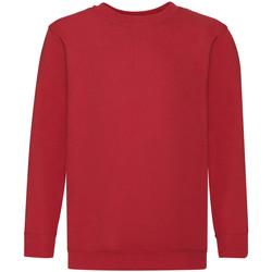 Vêtements Enfant Sweats Fruit Of The Loom 62041 Rouge