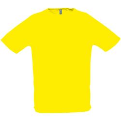 Vêtements Homme T-shirts manches courtes Sols Performance Citron