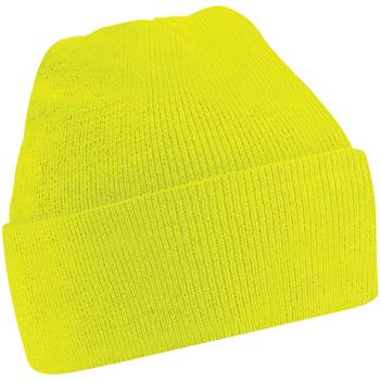 Accessoires textile Enfant Bonnets Beechfield B45B Jaune fluo