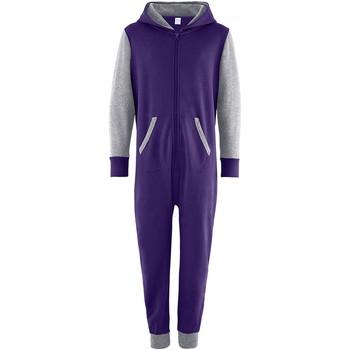 Vêtements Enfant Combinaisons / Salopettes Comfy Co Contrast Violet/Gris