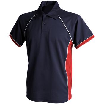 Vêtements Homme Polos manches courtes Finden & Hales Piped Bleu Marine/Rouge/Blanc