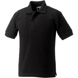 Vêtements Fille Polos manches courtes Jerzees Schoolgear Hardwearing Noir