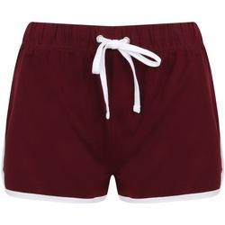 Vêtements Femme Shorts / Bermudas Skinni Fit Retro Rouge foncee