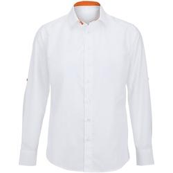 Vêtements Homme Chemises manches longues Alexandra Hospitality Blanc/Orange