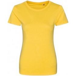Vêtements Femme T-shirts manches courtes Ecologie Organic Jaune
