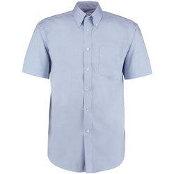 Vêtements Homme Chemises manches courtes Kustom Kit Oxford Bleu clair