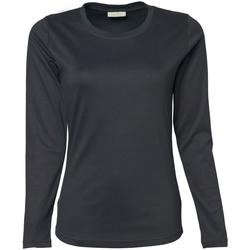 Vêtements Femme T-shirts manches longues Tee Jays Interlock Gris foncé