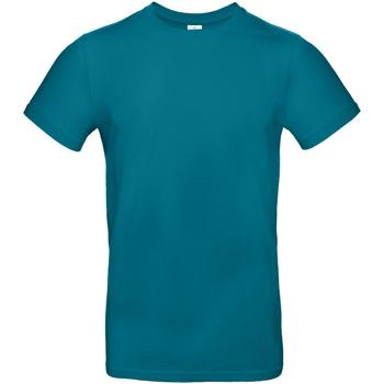 Vêtements Homme T-shirts manches courtes B And C TU03T Bleu paon