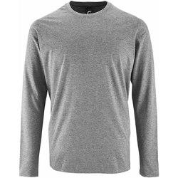 Vêtements Homme T-shirts manches longues Sols Imperial Gris chiné