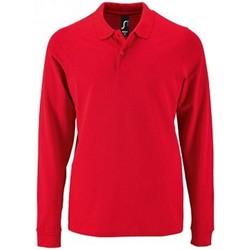 Vêtements Homme Polos manches longues Sols 2087 Rouge