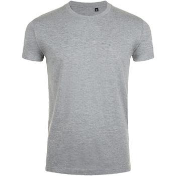 Vêtements Homme T-shirts manches courtes Sols Slim Fit Gris marne