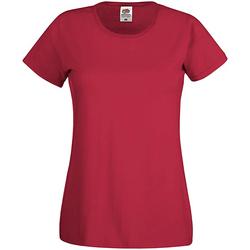 Vêtements Femme T-shirts manches courtes Fruit Of The Loom Original Rouge brique