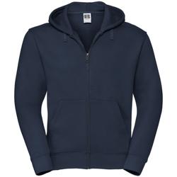 Vêtements Homme Sweats Russell Sweatshirt à capuche et fermeture zippée BC1499 Bleu marine