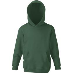Vêtements Enfant Sweats Fruit Of The Loom SS273 Vert bouteille