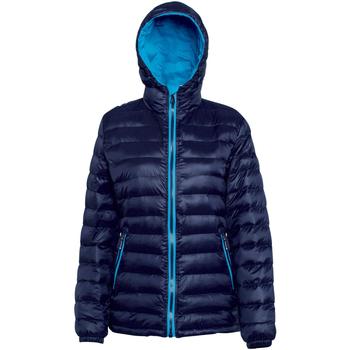 Vêtements Femme Doudounes 2786 Hooded Bleu marine/Saphir