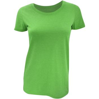 Vêtements Femme T-shirts manches courtes Bella + Canvas Triblend Vert
