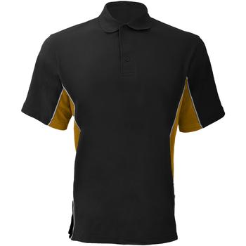 Vêtements Homme Polos manches courtes Gamegear Pique Noir/Or/Blanc