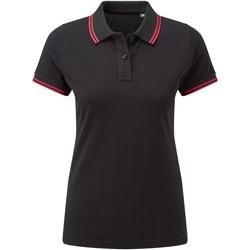 Vêtements Femme Polos manches courtes Asquith & Fox Classics Noir / rouge