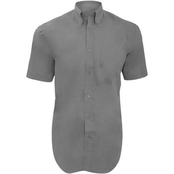 Vêtements Homme Chemises manches courtes Kustom Kit Oxford Gris argenté