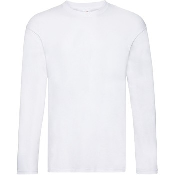 Vêtements Homme T-shirts manches longues Fruit Of The Loom Original Blanc