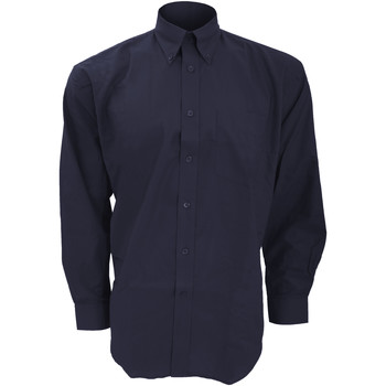 Vêtements Homme Chemises manches longues Kustom Kit Oxford Bleu marine