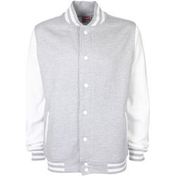Vêtements Blousons Fdm Contrast Gris chiné/Blanc